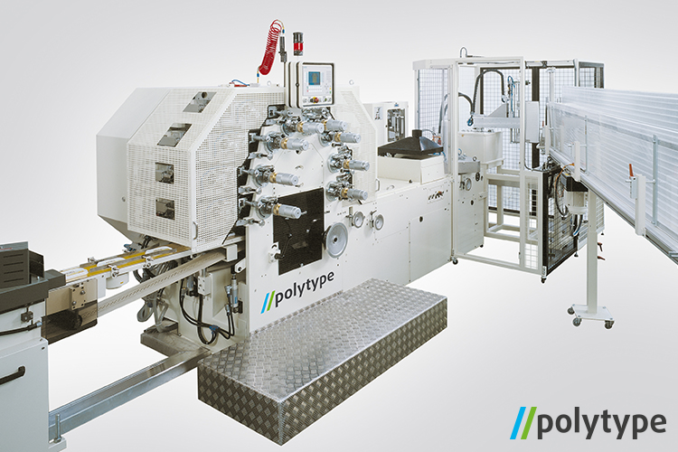 Polytype off-set lid printing machine - model DDM160