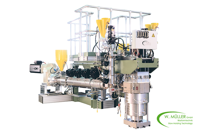 Co-Extrusion equipment for large blow moulding products, e.g. container, jerry cans, others